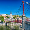 View of the St Georges Footbridge, Lyon France