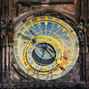 Close Up View of the Prague astronomical clock, Czech Republic