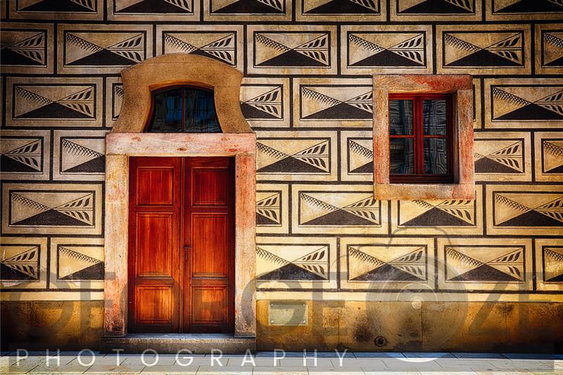 Door and Window Close Up in Prague Castel