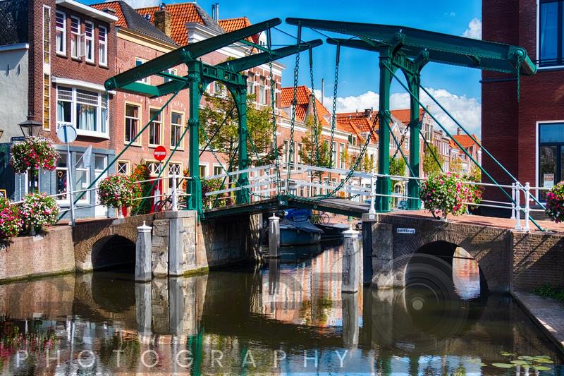 Small Drawbridge over a Canal, Leiden, Netherlands