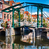 Small Drawbridge over a Canal, Leiden, Netherlands