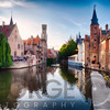 Bruges  with water canal at Late Afternoon, Flanders, Belgium
