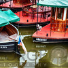 Colorful Small Boats of Prague