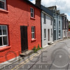 Colorful Row Houses Along Haven Hill Road, Kinsale Harbor; County Cork, Ireland
