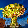 Chain Swing Ride at Dusk, Prater Amusement Park, Vienna, Austria
