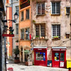 Quant Street Corner in Old Lyon, France