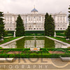 Low Angle view of a Palace from a Garden (Campo del Moro), Madrid Royal Palace, , Madrid, Spain