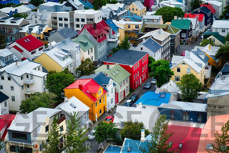 Colorful Rooftops of Reykjavik, Iceland