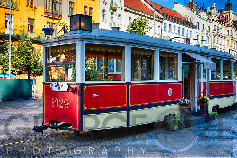 Tram Cafe, Grague, Czech Republic