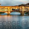 Golden Light on Ponte Vecchio, Florence, Tuscany, Italy
