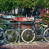 Classic Bicycles on a Bridge, Amsterdam, Netherlands