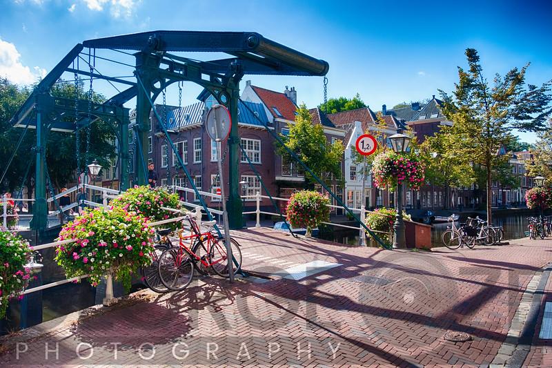 Drawbridge over a Canal, Leiden, Netherlands