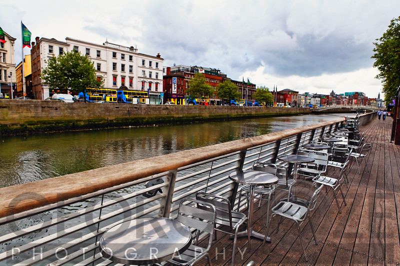 Boardwalk Along The Liffey River, Dublin, Republic of Ireland