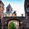 Old City Gate  of Leiden, South Holland Netherlands