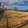 View of Barceloneta Beach, Barcelona, Catalonia, Spain