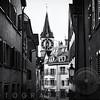 Old Town Zurich with the Clocktower of St Peter Church, Canton Zurich, Switzerland