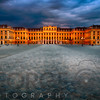 Main Entrance View of the Schonbrunn Palace at Night