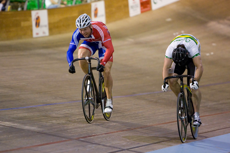 Chris Hoy (Scot) vs Mark French (Vic, Aus)