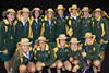 The Australian women's team after receiving their Gold medals for winning the championship.