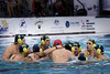 The Australian men's team huddle before the start of the Gold Medal final against Canada on day 8.