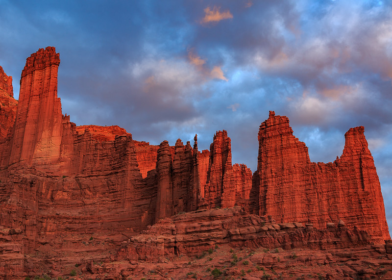 5X7 crop of Fisher Towers.