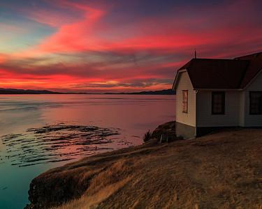 Crimson Coastal Sunset