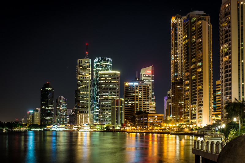 Brisbane Riverside by night 2014