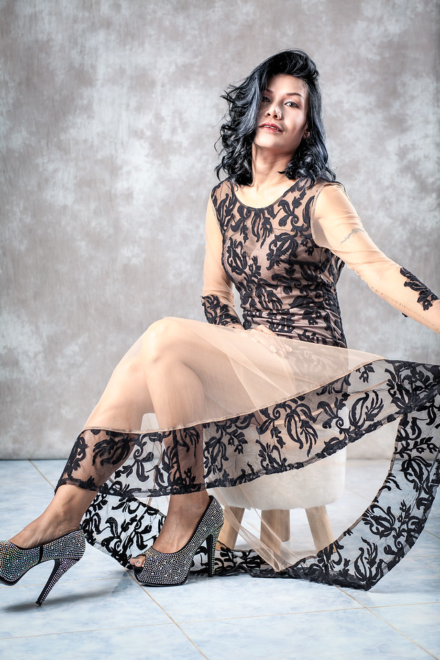 Black Lace Dress shoot