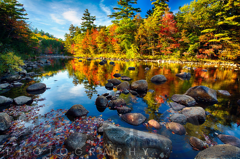 Swift River Fall Foliage Reflections