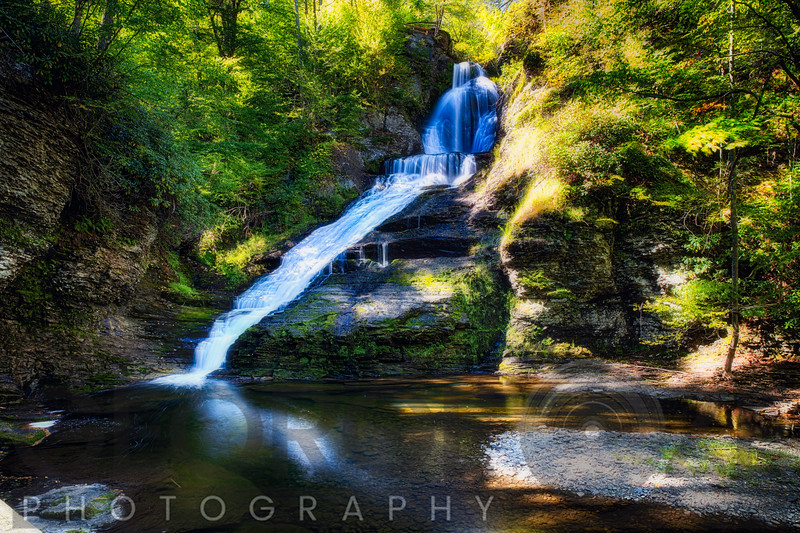 Summer View of the Dingmans Fall, Pennsylvania