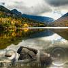 Pristine Mountain Lake During Fall Season, Echo Lake, Franconia, New Hampshire