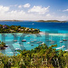 Panoramic View of Cruz Bay Harbor, St John, USVI