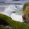 View of the Gulfoss Waterfall, Iceland