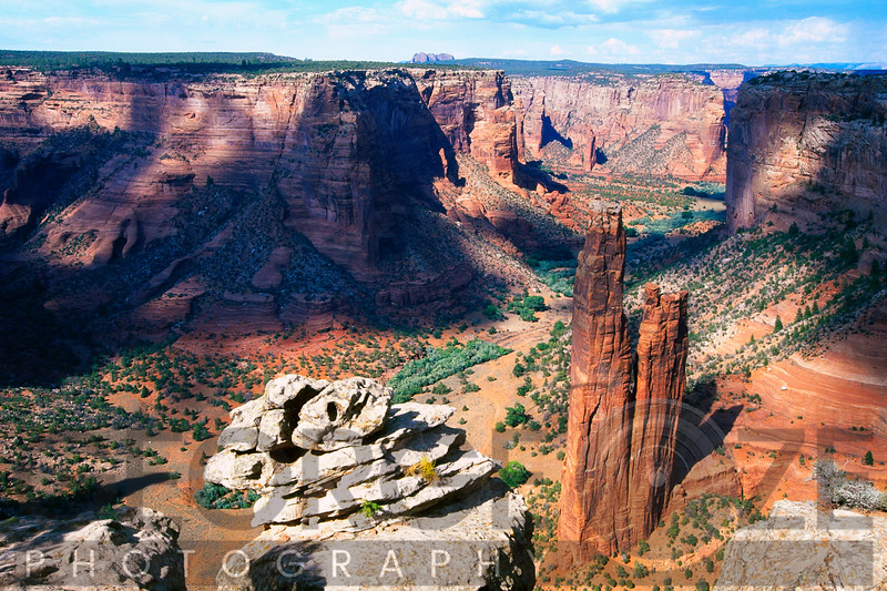 High Angle View of a Canyon, Canyon DeChelly at Spider Rock, Arizona