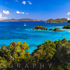 High Angle Panoramic View of Trunk Bay, St John, US Virgin Islands