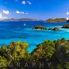 High Angle Panoramic View of Trunk Bay, St John, US Virgin Islands