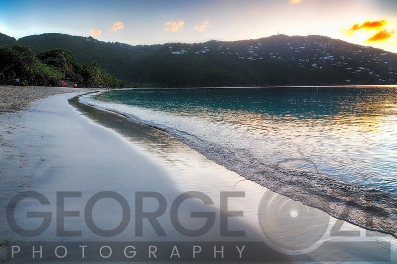 Tranquil Caribbean Beach at Sunset