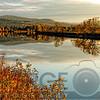 Connecticut River Tranquil Autumn Scenic Vista