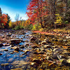 Ammonoosuc River at Franconia, New Hampshire, USA