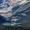High Angle View of the Chateau Lake Louise, Alberta, Canada