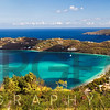 Panoramic Aerial View of Magens Bay, St Thomas, US Virgin Islands
