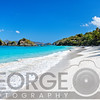 Low Angle View of a Caribbean Beach, Trunk Bay, St John, US Virgin Islands