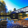 Autumn Scenic at the Schoefield Ford Covered Bridge