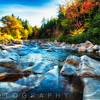 Granite Rocks in a Creek at Fall, Albany, New Hampshire