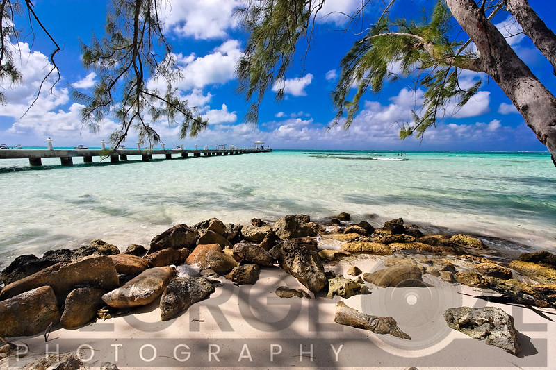 Rum Point Jetty as Viewed from the Shore, Cayman Islands