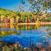 Bright Autumn Day in Harriman State Park, New York State