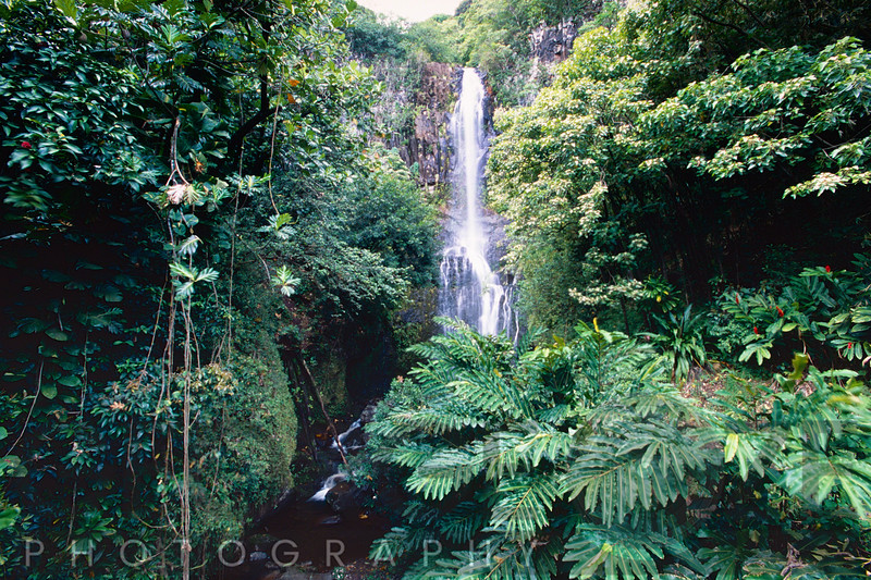 Wailua Falls on Hana Hwy, Maui, Hawaii