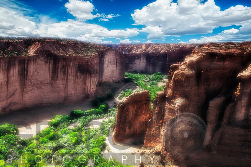High Angle View of a Sandstone Canyon, Canyon De Chelly, Arizona