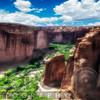 High Angle View of a Sandstone Canyon, Canyon De Chelly, Arizona