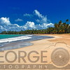 Wide Angle View of a Tropical Beach, Luquillo, Puerto Rico